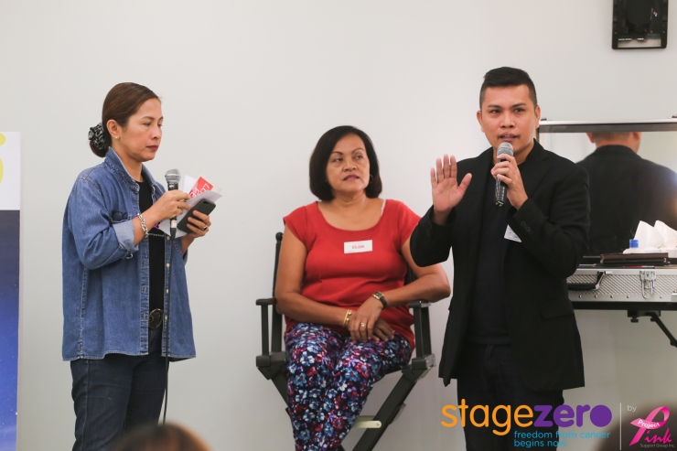 Host Melissa De Leon Joseph with MP consultant teaching the participants how to look good and feel good, using makeup.