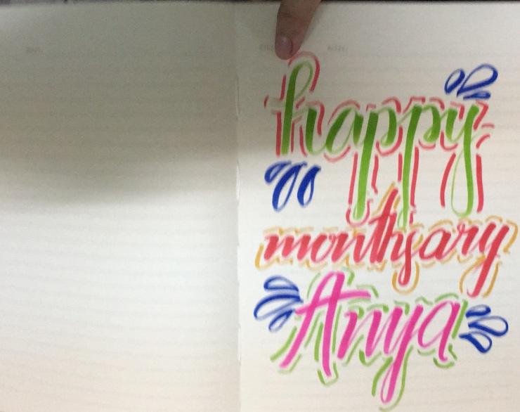 Calligraphy with Big Sis Ali