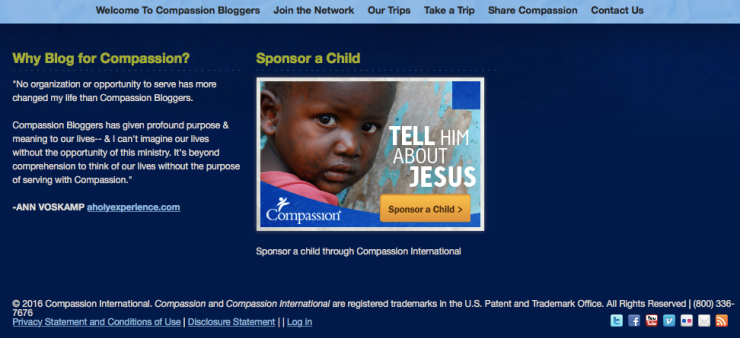 Compassion International_screenshot