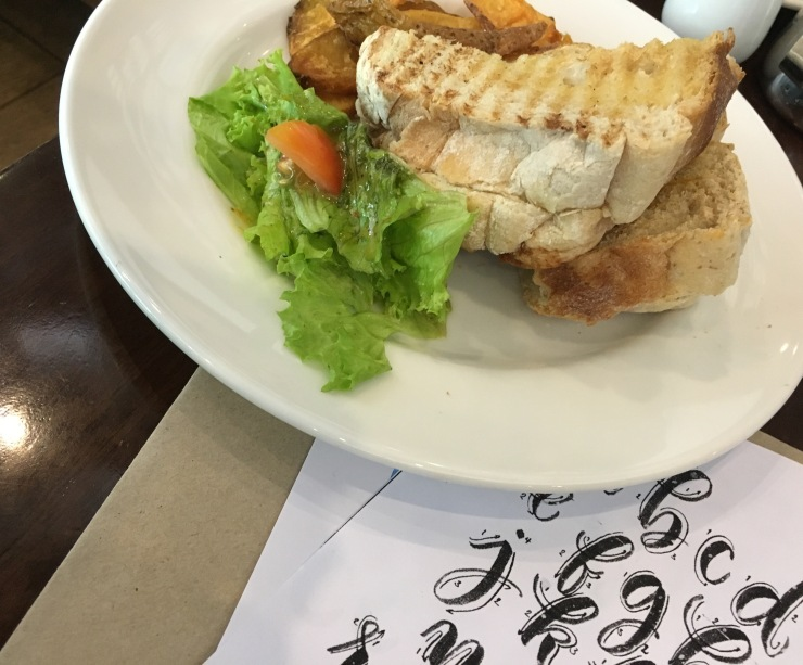 food and calligraphy
