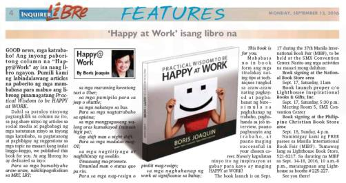 Happy@Work column